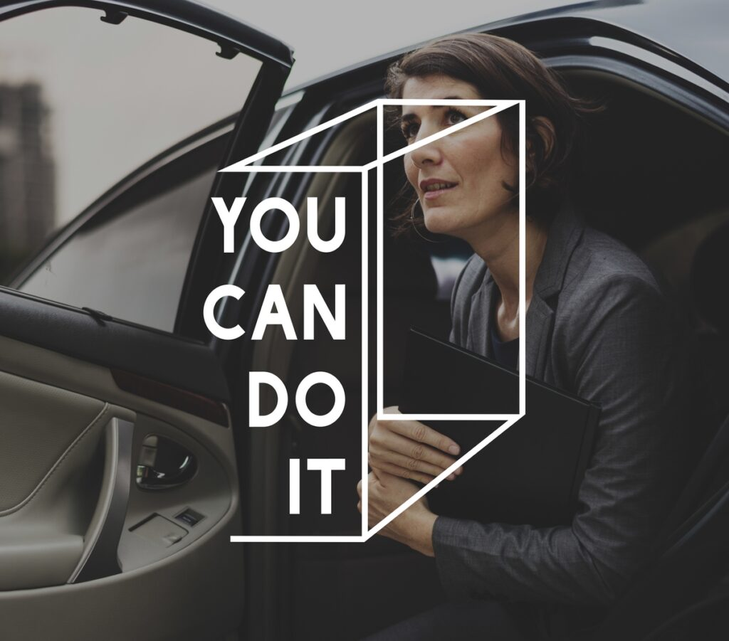 You Can Do It Life Motivation Word Graphic